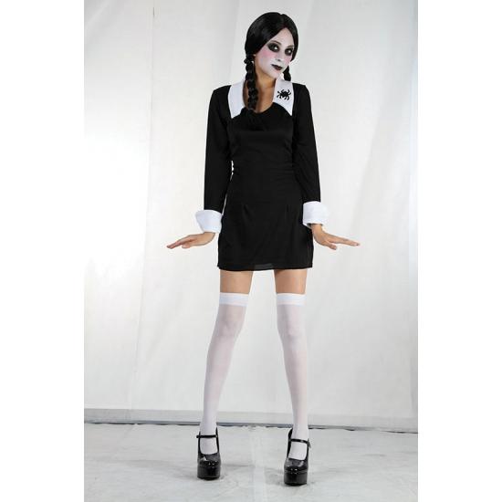 Zwart Halloween jurkje Wednesday voor meisjes