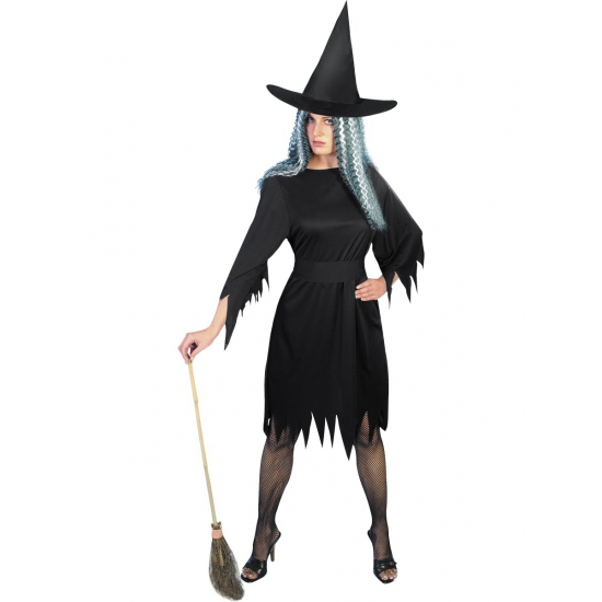 Zwart heksenkostuum dames