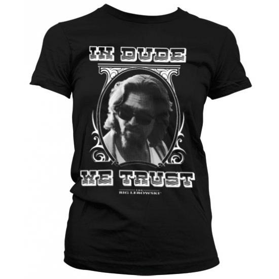 Zwart In Dude We Trust girly t shirt