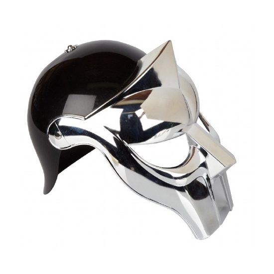 Zwart met zilveren Gladiator helm