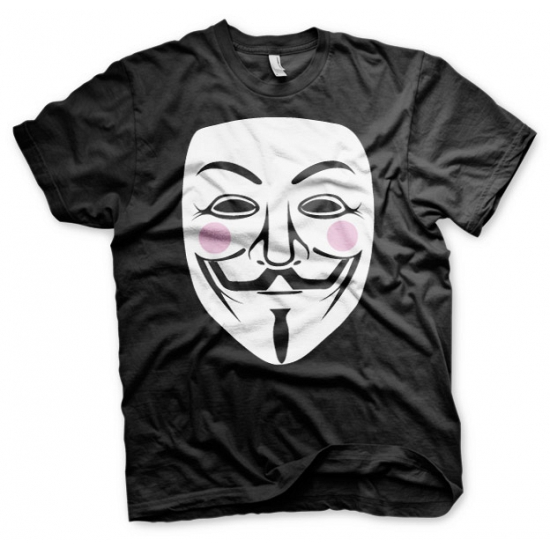 Zwart V for Vendetta t shirt