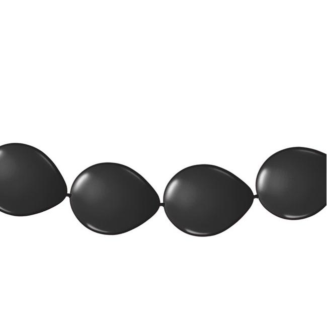 Zwarte ballonnen slinger 3 meter