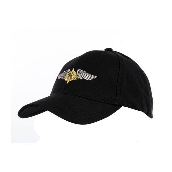 Zwarte baseball cap met propellers