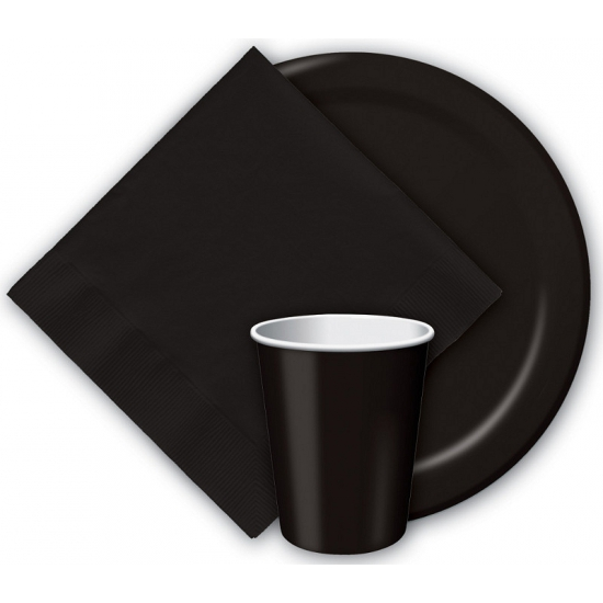 Zwarte bekertjes 266 ml