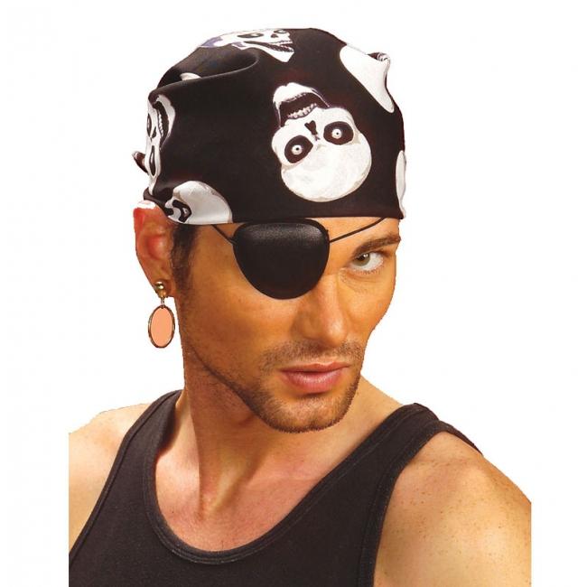 Zwarte doodskop piraten bandana
