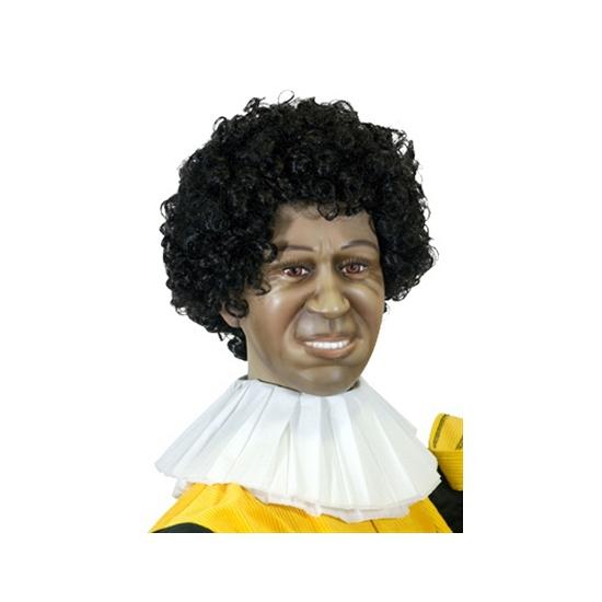 Zwarte Piet kraag van crepepapier