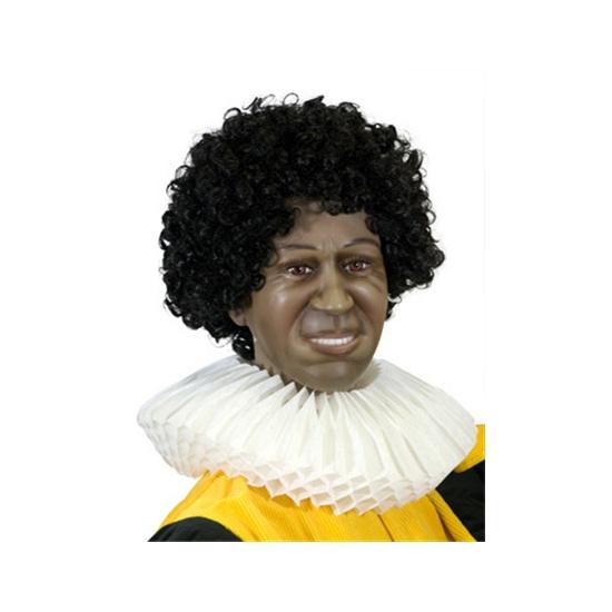 Zwarte Piet page kraag van papier