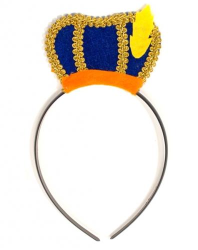 Zwarte Piet tiara met baret voor kids