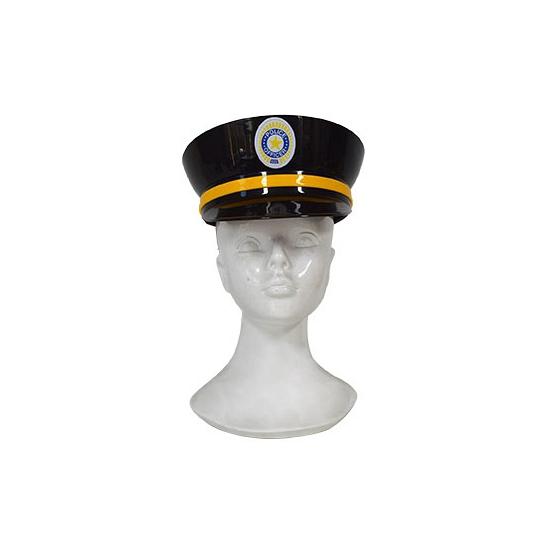 Zwarte politiepet plastic