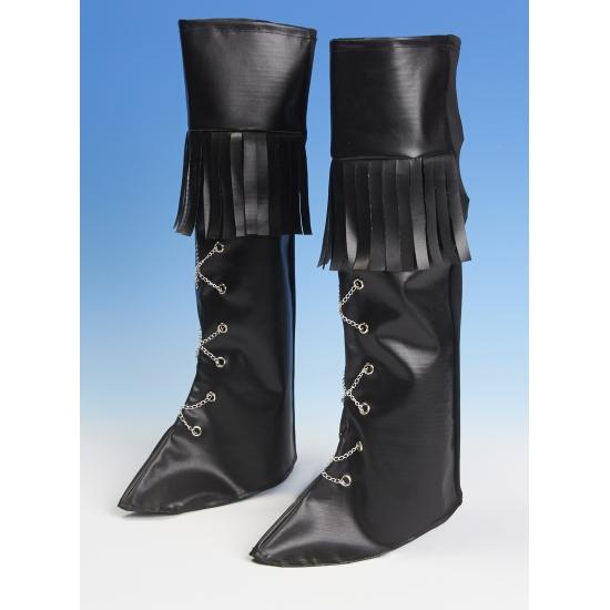 Zwarte schoenhoezen hoog
