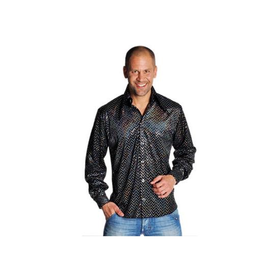 Zwarte seventies blouse heren