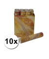 10 confetti shooters 30 cm goud