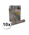 10 confetti shooters 30 cm zilver