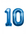 10 jaar folie ballonnen blauw