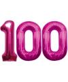 100 jaar folie ballonnen roze