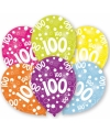 100 jaar leeftijd ballonnen 6 stuks