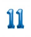 11 jaar folie ballonnen blauw