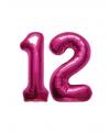 12 jaar folie ballonnen roze