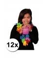 12 luxe gekleurde hawaii kransen