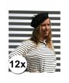 12 voordelige franse baretten zwart