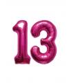 13 jaar folie ballonnen roze