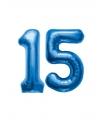 15 jaar folie ballonnen blauw
