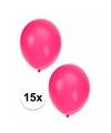 15x fluor roze ballonnen