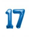 17 jaar folie ballonnen blauw