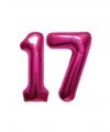 17 jaar folie ballonnen roze