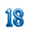 18 jaar folie ballonnen blauw