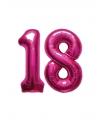 18 jaar folie ballonnen roze