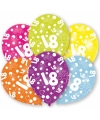 18 jaar leeftijd ballonnen 6 stuks