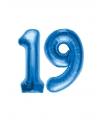 19 jaar folie ballonnen blauw