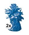 2 ballongewichten blauw 170 gr