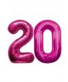 20 jaar folie ballonnen roze