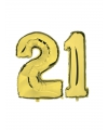 21 jaar folie ballonnen goud