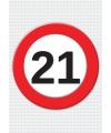 21 jaar verkeersbord mega deurposter