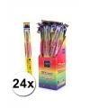24 neon sterretjes 45 cm