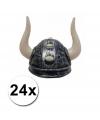 24 viking helmen met hoorns