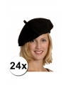 24 zwarte franse baretten