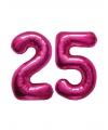 25 jaar folie ballonnen roze
