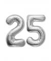 25 jaar getrouwd folie ballonnen zilver