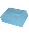 25 lichtblauwe servetten 33 x 33 cm