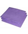 25 paarse servetten 33 x 33 cm