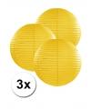 3 gele lampionnen 25 cm