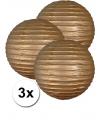 3 gouden lampionnen 35 cm