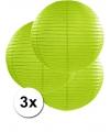 3 groene lampionnen 50 cm