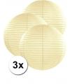 3 ivoor kleurige lampionnen 50 cm