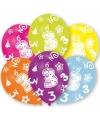 3 jaar leeftijd ballonnen 6 stuks
