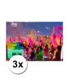 3 zakjes holi festival kleurpoeder groen